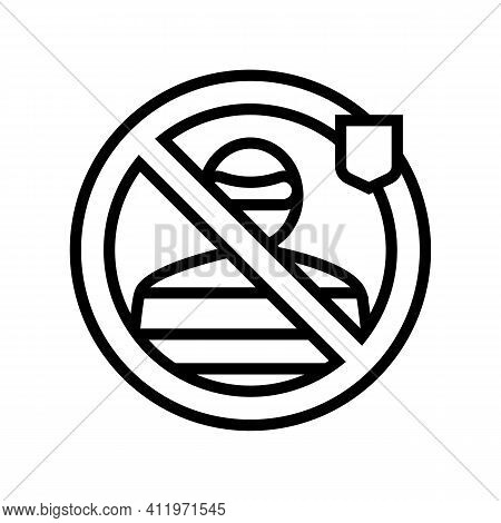 Thief Protect Line Icon Vector. Thief Protect Sign. Isolated Contour Symbol Black Illustration