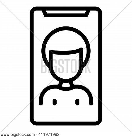 Smartphone Target Audience Icon. Outline Smartphone Target Audience Vector Icon For Web Design Isola