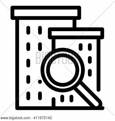 Building Target Audience Icon. Outline Building Target Audience Vector Icon For Web Design Isolated