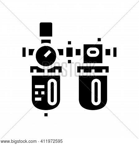 Filter Of Air Compressor Glyph Icon Vector. Filter Of Air Compressor Sign. Isolated Contour Symbol B