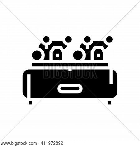 Rotary Air Compressor Glyph Icon Vector. Rotary Air Compressor Sign. Isolated Contour Symbol Black I