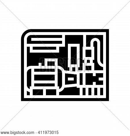 Screw Air Compressor Glyph Icon Vector. Screw Air Compressor Sign. Isolated Contour Symbol Black Ill