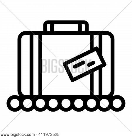 Airport Luggage Icon. Outline Airport Luggage Vector Icon For Web Design Isolated On White Backgroun