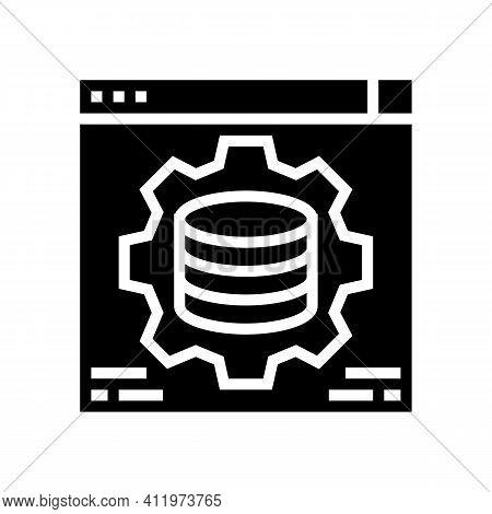 Hardware Solution Digital Processing Glyph Icon Vector. Hardware Solution Digital Processing Sign. I