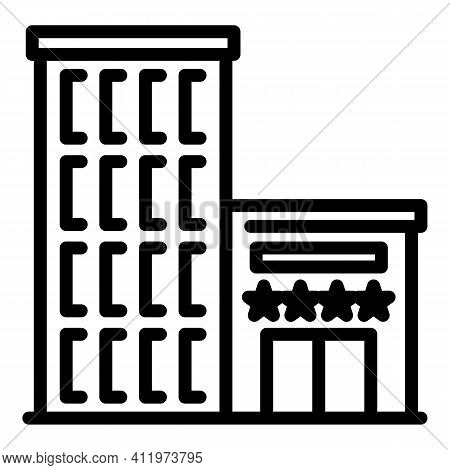 Airport Building Icon. Outline Airport Building Vector Icon For Web Design Isolated On White Backgro
