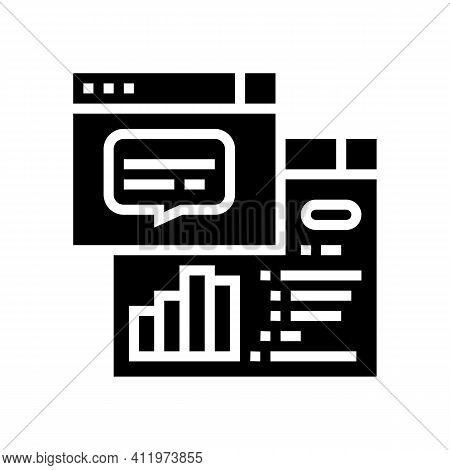 Tasks Hierarchy Digital Processing Glyph Icon Vector. Tasks Hierarchy Digital Processing Sign. Isola