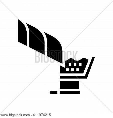 Roof Drainage System Glyph Icon Vector. Roof Drainage System Sign. Isolated Contour Symbol Black Ill