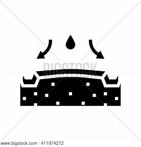 Highway Drainage System Glyph Icon Vector. Highway Drainage System Sign. Isolated Contour Symbol Bla