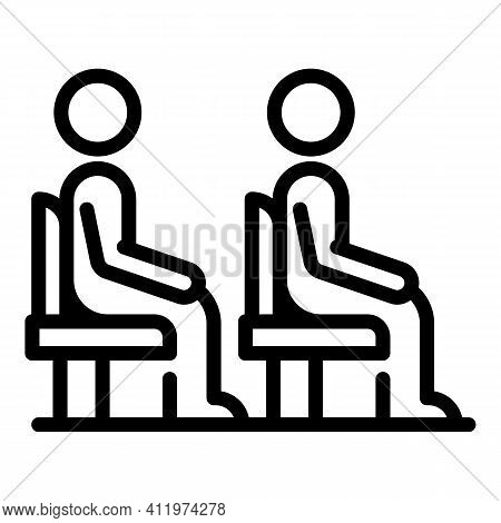 Passengers Seats Icon. Outline Passengers Seats Vector Icon For Web Design Isolated On White Backgro
