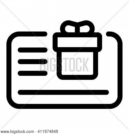 Promo Online Voucher Icon. Outline Promo Online Voucher Vector Icon For Web Design Isolated On White
