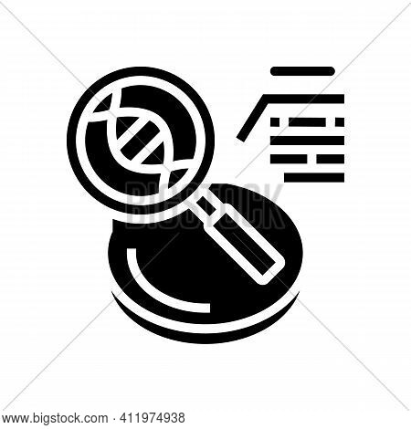 Researching Genetic Molecule Glyph Icon Vector. Researching Genetic Molecule Sign. Isolated Contour
