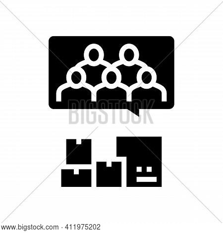 Clients Of Logistics Service Glyph Icon Vector. Clients Of Logistics Service Sign. Isolated Contour