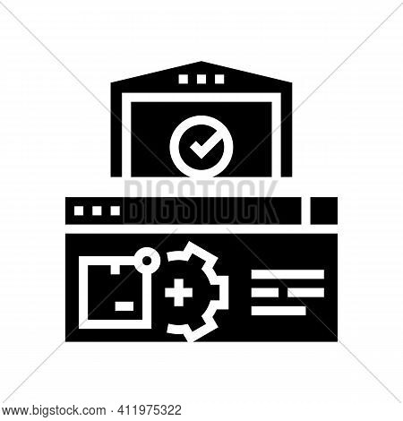 Storehouse Logistics Process Glyph Icon Vector. Storehouse Logistics Process Sign. Isolated Contour