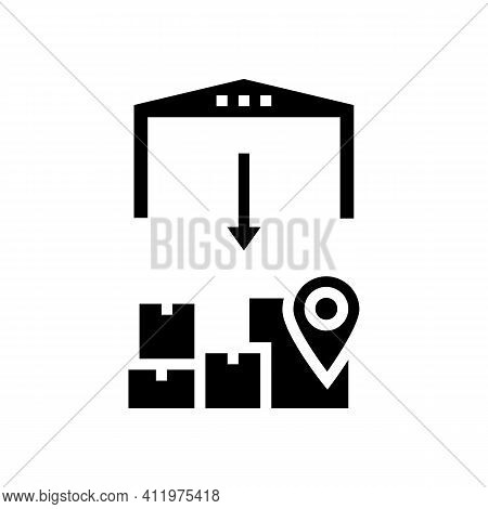 Upload From Storehouse Glyph Icon Vector. Upload From Storehouse Sign. Isolated Contour Symbol Black
