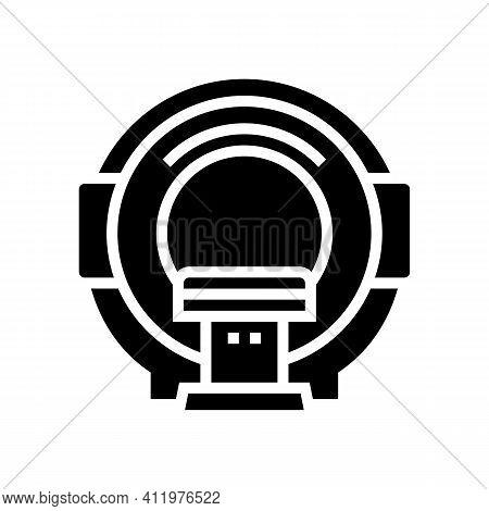 Mri Radiology Equipment Glyph Icon Vector. Mri Radiology Equipment Sign. Isolated Contour Symbol Bla