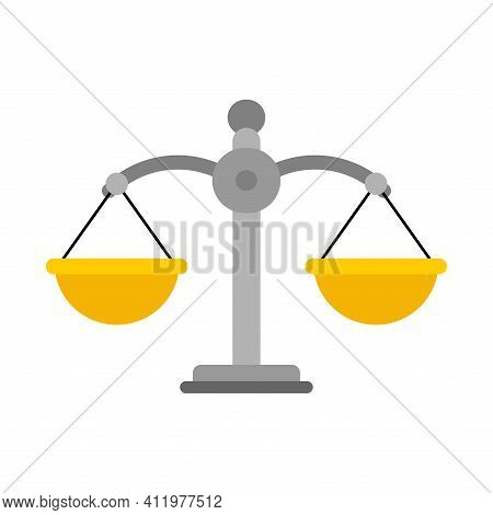 Scales Judge Isolated. Balance Magistrate Vector Illustration