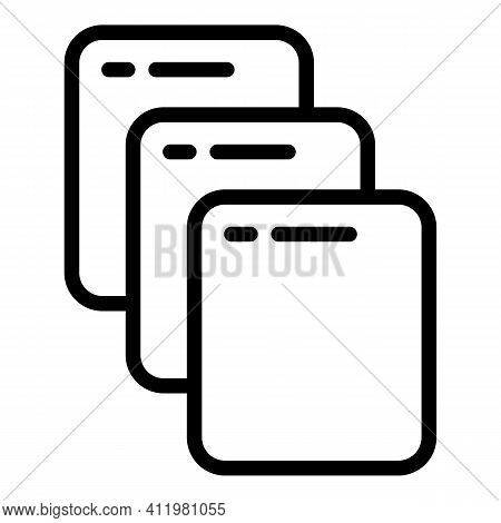 Model Interface Icon. Outline Model Interface Vector Icon For Web Design Isolated On White Backgroun