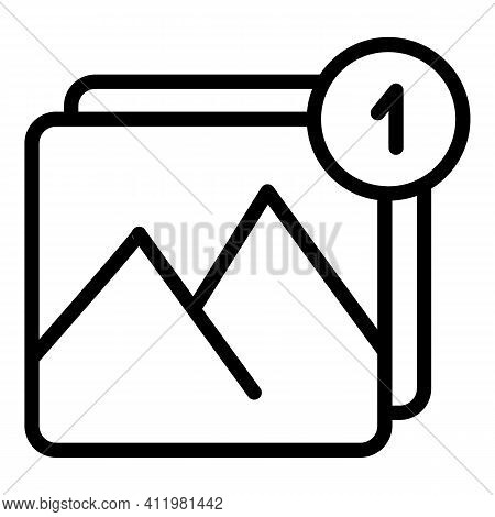 Digital Picture Interface Icon. Outline Digital Picture Interface Vector Icon For Web Design Isolate