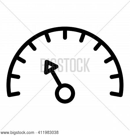 Speed Access Interface Icon. Outline Speed Access Interface Vector Icon For Web Design Isolated On W