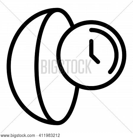 Optometry Lens Icon. Outline Optometry Lens Vector Icon For Web Design Isolated On White Background
