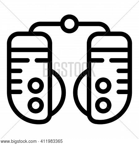 Optometry Device Icon. Outline Optometry Device Vector Icon For Web Design Isolated On White Backgro