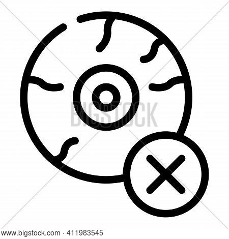 Tired Eye Icon. Outline Tired Eye Vector Icon For Web Design Isolated On White Background