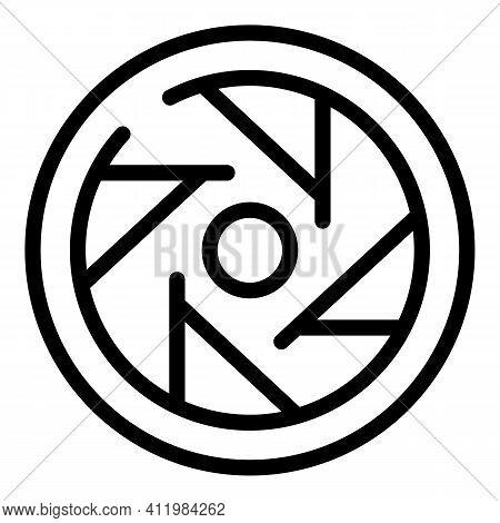 Optometry Shutter Icon. Outline Optometry Shutter Vector Icon For Web Design Isolated On White Backg