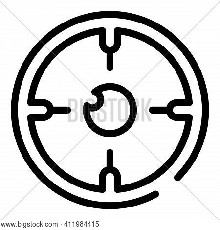 Eye Micro Surgery Icon. Outline Eye Micro Surgery Vector Icon For Web Design Isolated On White Backg