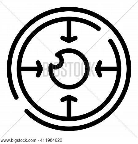 Focus Eye Correction Icon. Outline Focus Eye Correction Vector Icon For Web Design Isolated On White