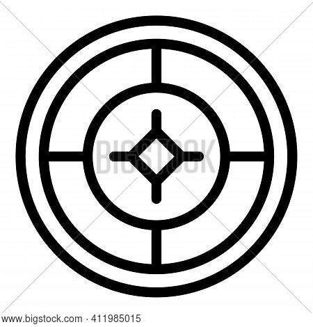 Reticle Computer Icon. Outline Reticle Computer Vector Icon For Web Design Isolated On White Backgro