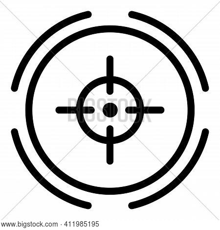 Scope Target Icon. Outline Scope Target Vector Icon For Web Design Isolated On White Background