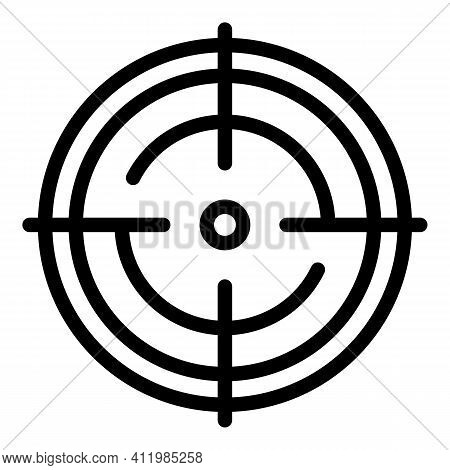 Circular Scope Sight Icon. Outline Circular Scope Sight Vector Icon For Web Design Isolated On White