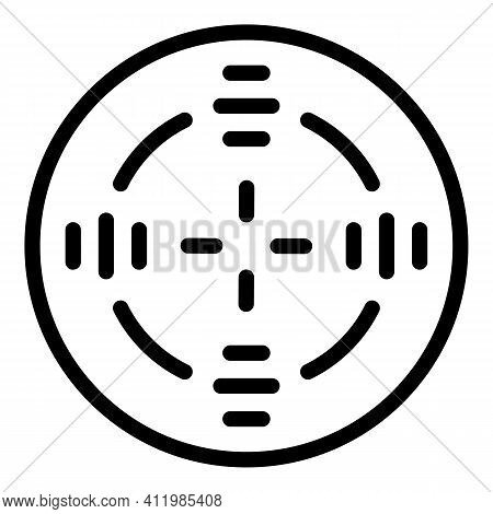 Crosshair Target Icon. Outline Crosshair Target Vector Icon For Web Design Isolated On White Backgro