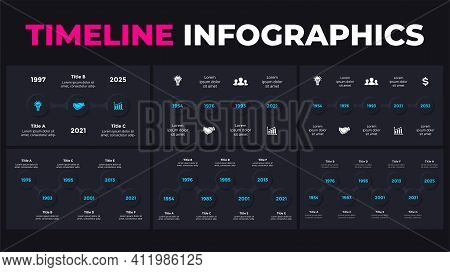 Timeline Neumorphic Vector Infographic. Presentation Slide Template. Neumorphism Ui Design. Clean Mi