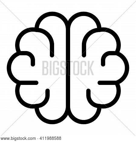 Scientist Brain Icon. Outline Scientist Brain Vector Icon For Web Design Isolated On White Backgroun