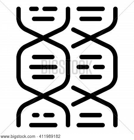 Scientist Dna Icon. Outline Scientist Dna Vector Icon For Web Design Isolated On White Background