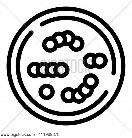Cells Petri Dish Icon. Outline Cells Petri Dish Vector Icon For Web Design Isolated On White Backgro