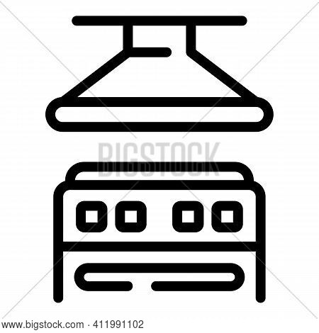 Kitchen Stove Icon. Outline Kitchen Stove Vector Icon For Web Design Isolated On White Background