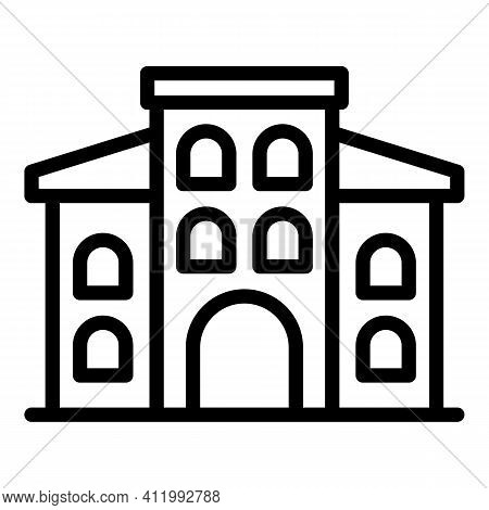 University Campus Icon. Outline University Campus Vector Icon For Web Design Isolated On White Backg