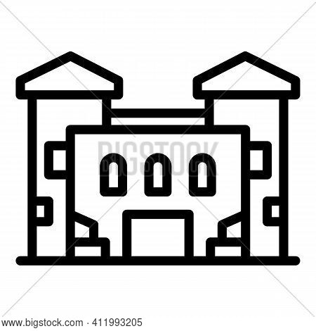 Old Campus Icon. Outline Old Campus Vector Icon For Web Design Isolated On White Background
