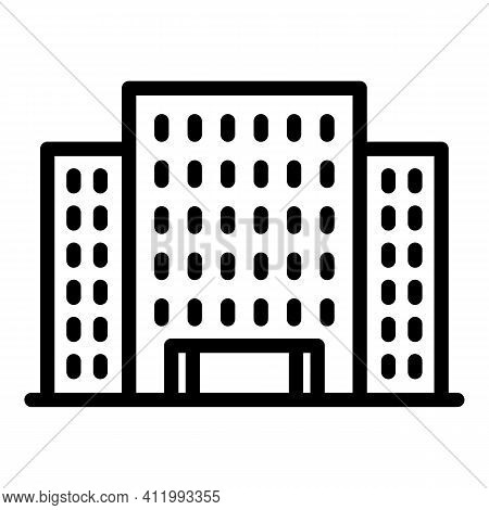 Architecture Campus Icon. Outline Architecture Campus Vector Icon For Web Design Isolated On White B