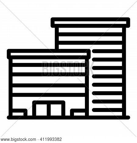 Construction Campus Icon. Outline Construction Campus Vector Icon For Web Design Isolated On White B