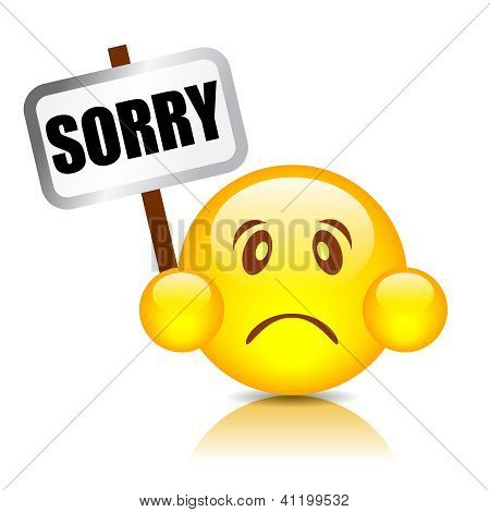 Sorry smiley vector illustration
