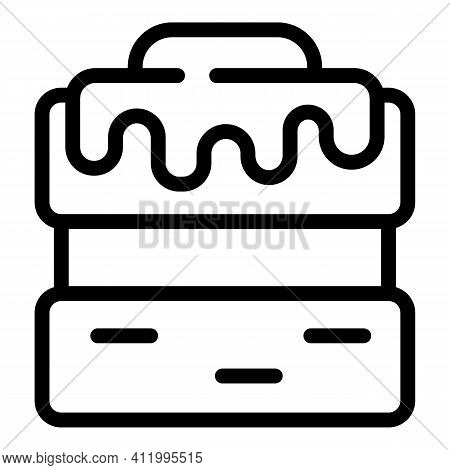 Cookie Molds Cream Cake Icon. Outline Cookie Molds Cream Cake Vector Icon For Web Design Isolated On