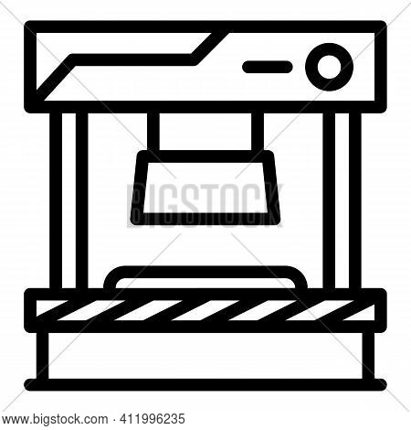 Press Form Machine Icon. Outline Press Form Machine Vector Icon For Web Design Isolated On White Bac