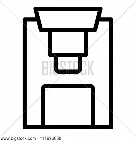 Steel Press Machine Icon. Outline Steel Press Machine Vector Icon For Web Design Isolated On White B