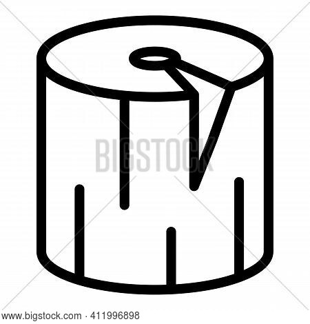 Trunk Plywood Icon. Outline Trunk Plywood Vector Icon For Web Design Isolated On White Background