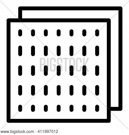 Plywood Board Icon. Outline Plywood Board Vector Icon For Web Design Isolated On White Background
