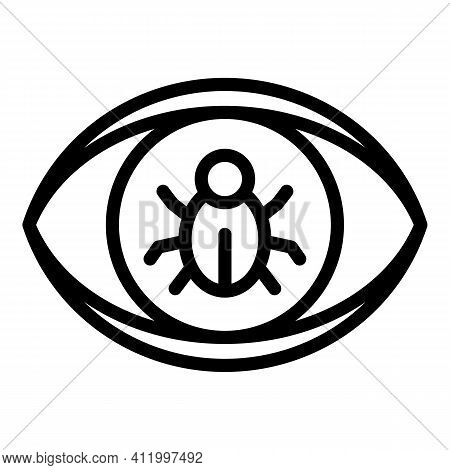 Eye Malware Icon. Outline Eye Malware Vector Icon For Web Design Isolated On White Background