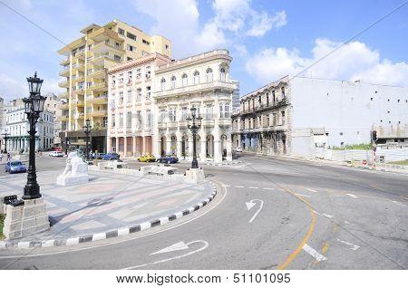El Paseo Del Prado, A Famous Street In Havana